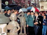 Der Schützebrunnen bei der Einweihung 1989