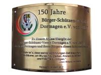 Stiftungstafel des Schützenbaums