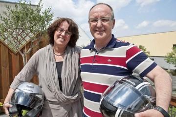 Mit dem Motorrad in den Urlaub: Nach dem Schützenfest zieht es das neue Königspaar Hans-Joachim Krapp und Heike Loibl-Krapp nach Vorarlberg in Österreich. Foto: s. büntig