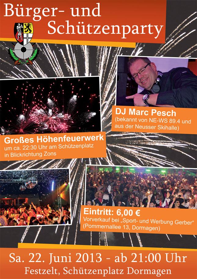 Plakat Zeltparty 2013