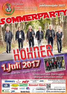 Plakat BSV Sommerparty 2017