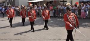 """Parade Husarenzug Rote Husaren """"Kruff Heem"""""""