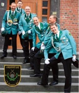 Christian Wagner (Flügelleutnant), Markus Buchholz (Leutnant und Kassierer), Marcus Stephan (1. Vorsitzender), Uwe Rotsch (2. Vorsitzender), Jürgen Haupt (Spieß) und Christian Zaminer (Zugführer)