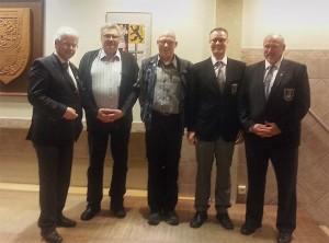 v.l.: BSV-Chef Rolf Starke, Wolfgang Schröder, Peter Schipper, Marcel Kühnhold, Hans-Arnold Heier