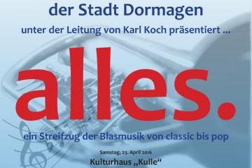 Plakat Konzert der Feuerwehrkapelle
