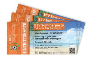 Eintrittskarten Sommerparty 2017