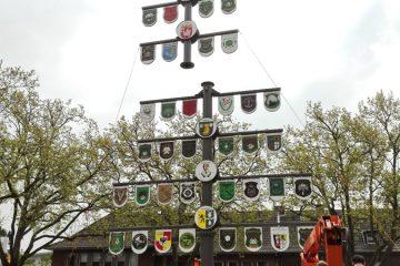 Der neue Schützenbaum wurde am Freitag, 21. April 2017, errichtet.
