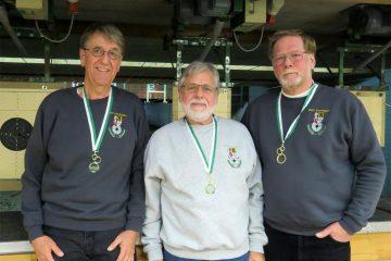 Siegreiche BSV-Schützen: Andreas Hochschon, Günter Schmidt und Sepp Hemm (v.l.)